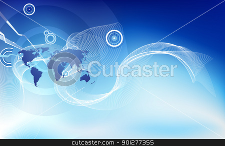 Abstract corporate business background stock vector clipart, An abstract corporate business background symbolising the concept of global business, communications and travel or people or information. by Christos Georghiou