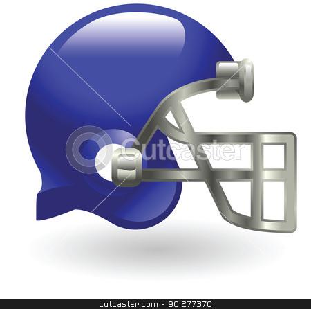american football helmet stock vector clipart, Illustration of a football helmet by Christos Georghiou
