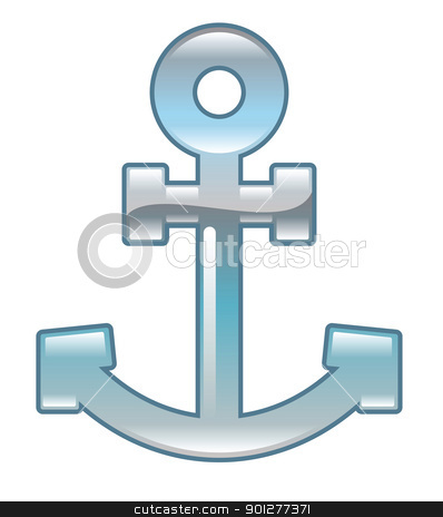 anchor Illustration stock vector clipart, Illustration of an anchor by Christos Georghiou