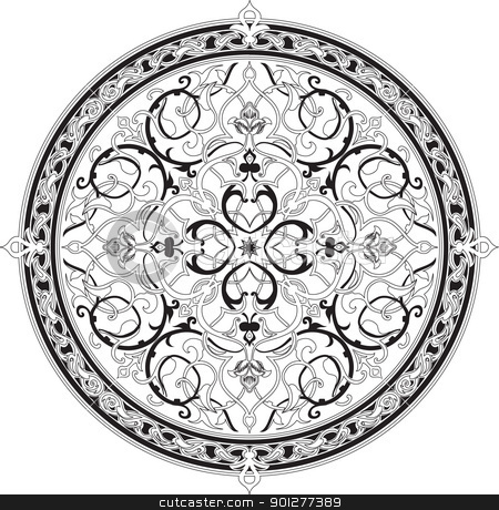 Arabic floral pattern motif Arabic floral pattern motif stock vector clipart, Arabic floral pattern motif Arabic floral pattern motif, based on Ottoman ornament  by Christos Georghiou