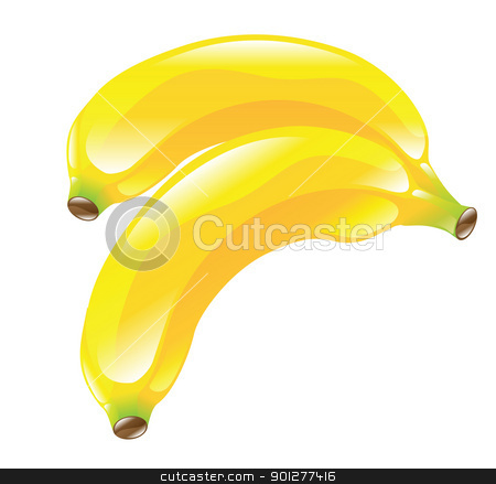 banana  illustration stock vector clipart, Illustration of bananas by Christos Georghiou