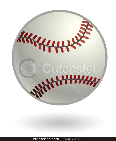 baseball Illustration stock vector clipart, Illustration of a baseball by Christos Georghiou