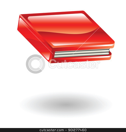 book Illustration stock vector clipart, Illustration of a red book by Christos Georghiou