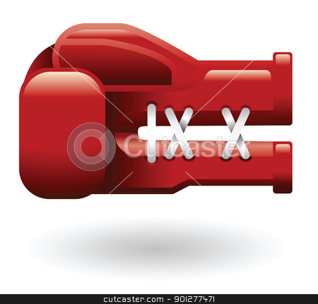 boxing glove Illustration stock vector clipart, Illustration of red boxing gloves by Christos Georghiou