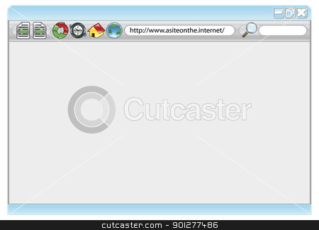Internet web browser stock vector clipart, An illustration of an internet web browser with copyspace if required by Christos Georghiou