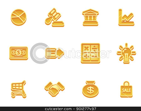 business and finance icons stock vector clipart, illustration of a set of business and finance internet icons by Christos Georghiou