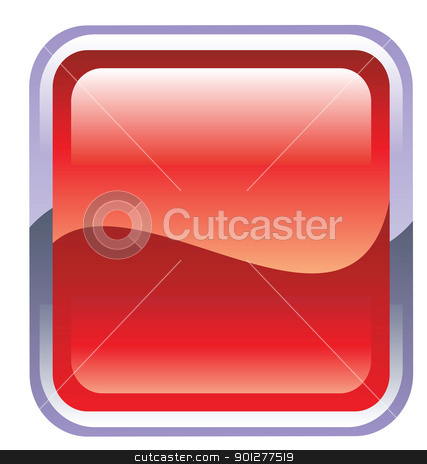 button illustration stock vector clipart, Illustration of a red button by Christos Georghiou