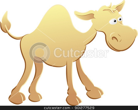camel illustration stock vector clipart, An illustration of a cute camel character  by Christos Georghiou