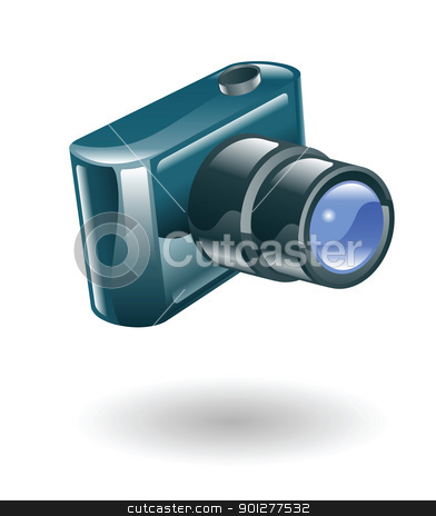 camera  illustration stock vector clipart, Illustration of a camera by Christos Georghiou