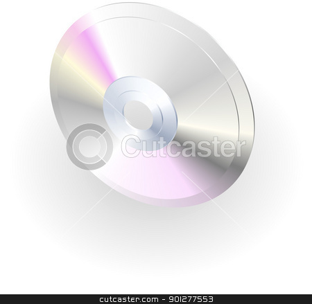 cd or dvd illustration stock vector clipart, Illustration of a compact disc or dvd by Christos Georghiou
