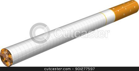 cigarette illustration stock vector clipart, A an illustration of a cigarette.  by Christos Georghiou