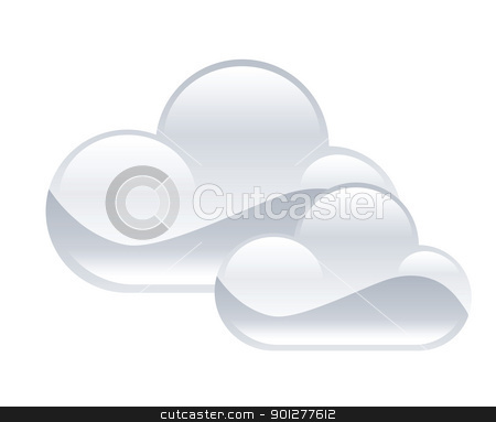 clouds illustration stock vector clipart, Illustration of clouds by Christos Georghiou