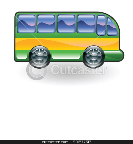 coach bus illustration stock vector clipart, Illustration of a coach bus by Christos Georghiou