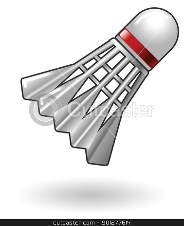  Badminton Shuttlecock Illustration stock vector clipart, Illustration of Badminton Shuttlecock by Christos Georghiou