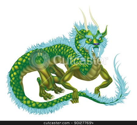 Dragon stock vector clipart, An illustration of an oriental style dragon by Christos Georghiou