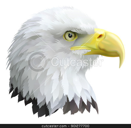 Eagle stock vector clipart, Illustration of a eagles head in profile. by Christos Georghiou