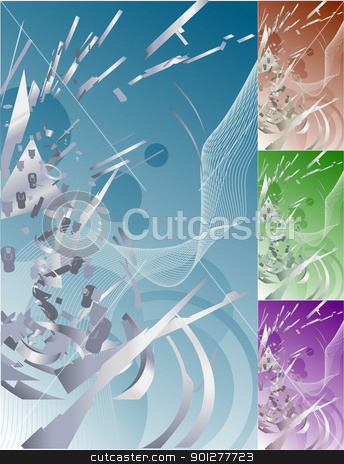 futuristic exploding technology background stock vector clipart, Conceptual abstract funky futuristic exploding technology background.  by Christos Georghiou
