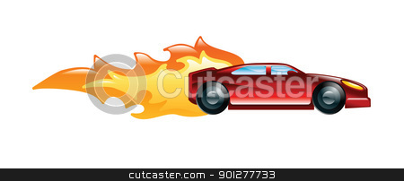 fast car stock vector clipart, Illustration of a fast car by Christos Georghiou