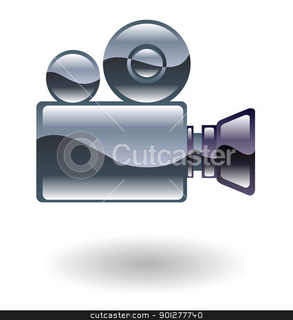 film camera Illustration stock vector clipart, Illustration of a film camera by Christos Georghiou