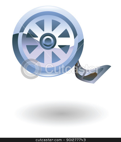 film reel Illustration stock vector clipart, Illustration of a film reel by Christos Georghiou