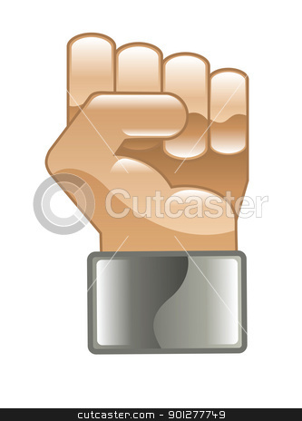 fist Illustration stock vector clipart, Illustration of a fist by Christos Georghiou