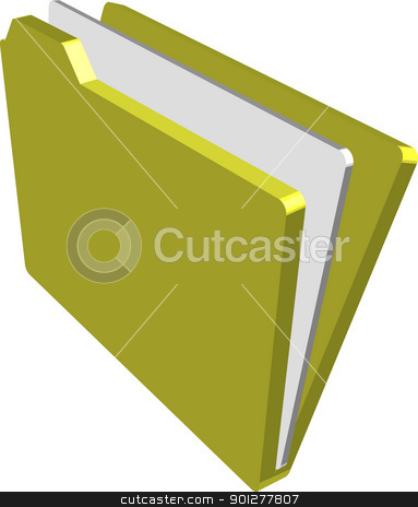 folder Illustration stock vector clipart, An illustration of a folder containing documents  by Christos Georghiou