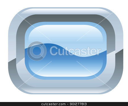 frame illustration stock vector clipart, Illustration of a blue and silver frame by Christos Georghiou