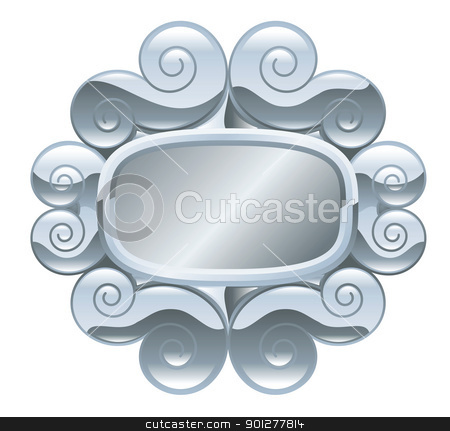 frame illustration stock vector clipart, Illustration of a silver ornate frame  by Christos Georghiou