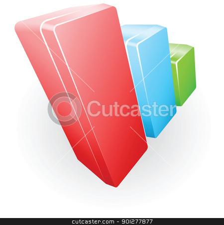 bar chart illustration stock vector clipart, Illustration of graph boxes bar chart illustration by Christos Georghiou