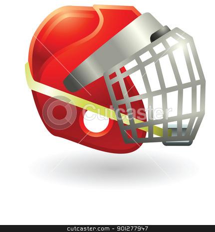 hockey mask helmet stock vector clipart, Illustration of a hockey helmet by Christos Georghiou