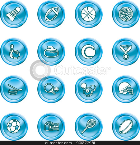 sports icons stock vector clipart, series of icons or design elements relating to sports  by Christos Georghiou