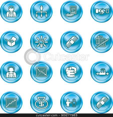 business icons stock vector clipart, icons or design elements relating to business  by Christos Georghiou