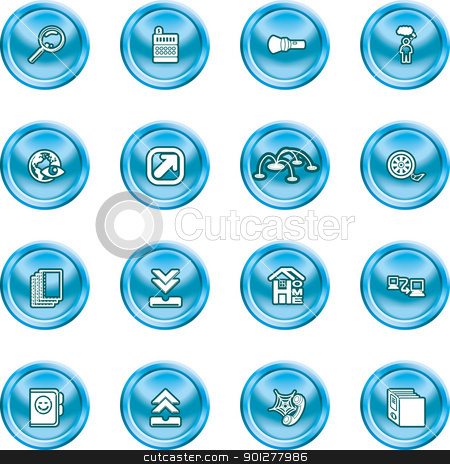 Computing and Website Icons  stock vector clipart, A set of shiny Computing and Website Icons  by Christos Georghiou