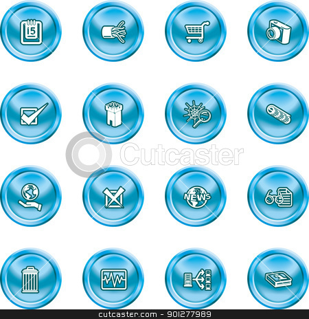 computer and web icons  stock vector clipart, A set of computer and web icons  by Christos Georghiou