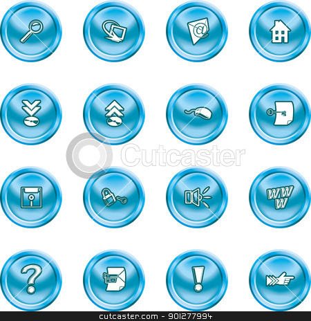 computer and internet icons  stock vector clipart, A set of computer and internet icons  by Christos Georghiou