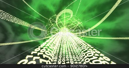 information super highway stock photo, Information super-highway Binary streams of information  by Christos Georghiou