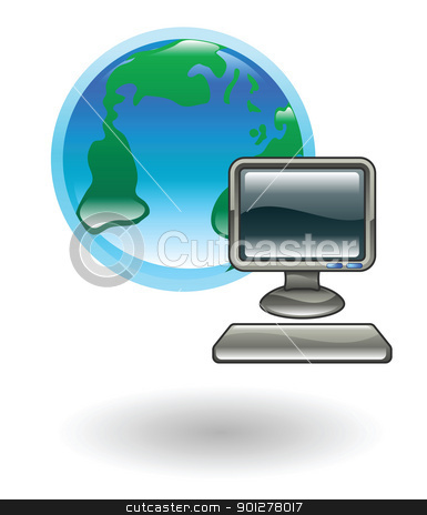 internet  Illustration stock vector clipart, Illustration of the world wide internet by Christos Georghiou
