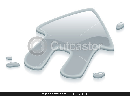 Liquid silver metal house symbol sign stock vector clipart, Illustration of a liquid silver metal house symbol sign by Christos Georghiou