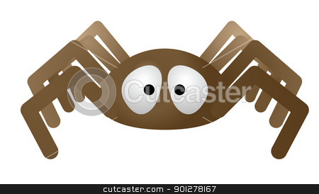 spider illustration stock vector clipart, Illustration of a spider by Christos Georghiou