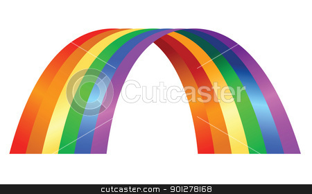 rainbow illustration stock vector clipart, Illustration of colorful rainbow by Christos Georghiou