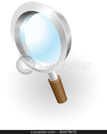 magnifying glass stock vector clipart, Illustration of a magnifying glass by Christos Georghiou