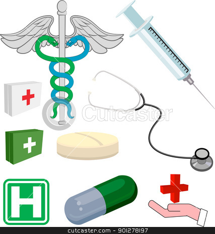 Medical objects or icons stock vector clipart, Medical objects/ icons by Christos Georghiou