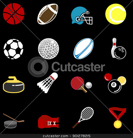 sports icon set stock vector clipart, series of sport icons  by Christos Georghiou