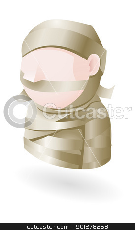 mummy illustration stock vector clipart, Illustration of a mummy by Christos Georghiou