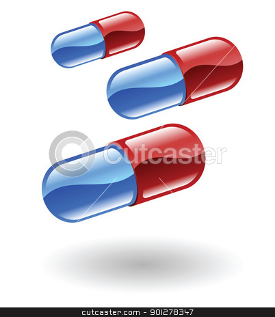 pills Illustration stock vector clipart, Illustration of pills by Christos Georghiou