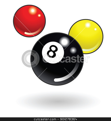 pool balls Illustration stock vector clipart, Illustration of pool balls by Christos Georghiou