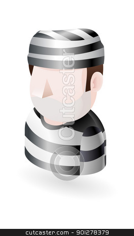 prisoner illustration stock vector clipart, Illustration of a prisoner by Christos Georghiou