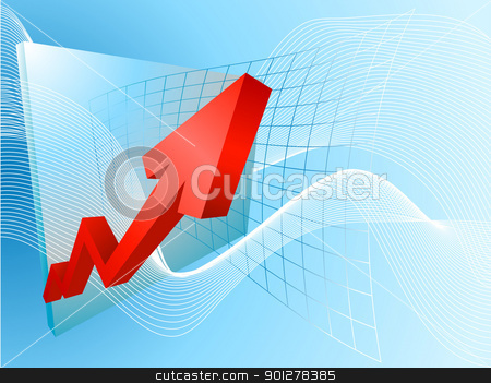business profits concept illustration stock vector clipart, A conceptual background based on a graph soaring profits  by Christos Georghiou