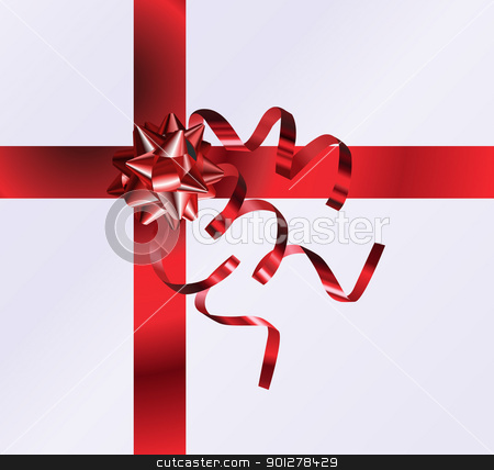nicely wrapped gift stock vector clipart, An illustration of a nicely wrapped gift form the top by Christos Georghiou