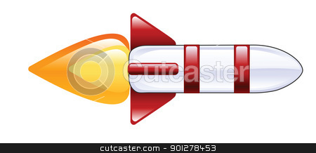 rocket stock vector clipart, Illustration of a rocket by Christos Georghiou